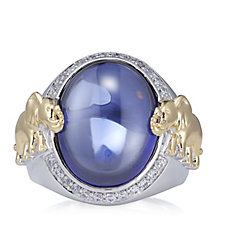 Diamonique by Tova 0.2ct tw Simulated Tanzanite Ring Sterling Silver