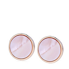 Bronzo Italia Celebration Collection, Pink Mother of Pearl Stud Earrings