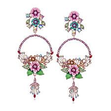 Butler & Wilson Elaborate Flower Earrings