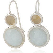 Sence Copenhagen Signature Double Drop Faceted Earrings