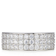 Diamonique 1.4ct tw Pave Band Ring Sterling Silver