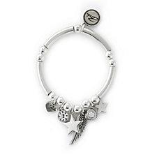 Bibi Bijoux Star & Wing Charm Stretch Bracelet