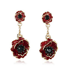 The Poppy Collection Drop Earrings by Bill Skinner