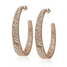 Loverocks Mixed Crystal Hoop Earrings
