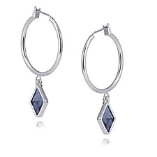 French Connection Kite Drop Click-it Hoop Earrings