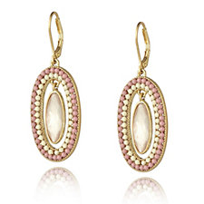 Lonna & Lilly Oval Encased Bead Drop Earrings