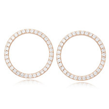 Diamonique 3.2ct tw Circle Earrings Sterling Silver