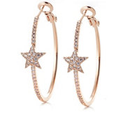 Frank Usher Star Hoop Earrings