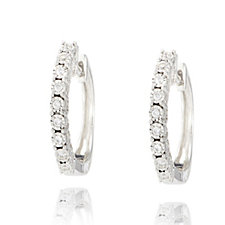 307878 - 0.1ct Diamond Huggie Earrings 9ct Gold
