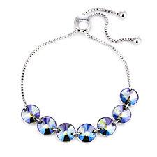 Aurora Swarovski Crystal Adjustable Slider Bracelet