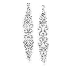 Loverocks Crystal Ornate Drop Earrings