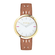 Furla Ladies Capriccio Leather Strap Watch