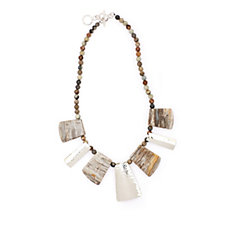 330278 - Taxco Traditions Artisan Creek Jasper 45.7cm Necklace Sterling Silver