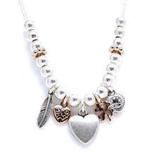 Bibi Bijoux Multi Charm 43cm Necklace & 11cm Extender