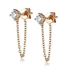 InStyle for Diamonique Mischa 0.50ct tw Chain Earrings