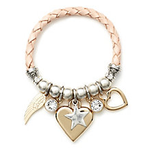 Bibi Bijoux Leather Mixed Charm Bracelet