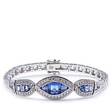 Elizabeth Taylor 2ct tw Simulated Sapphire Antique Bracelet