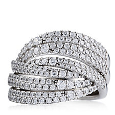 Michelle Mone for Diamonique 1.6ct tw Pave Swirl Ring Sterling Silver