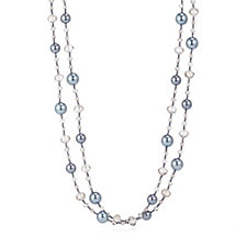 331379 - Butler & Wilson Simulated Pearl & Bead 143cm Necklace
