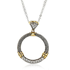 Nour Circle Crystal Pendant & 45cm Chain