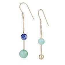 Pilgrim Semi Precious Threader Earrings