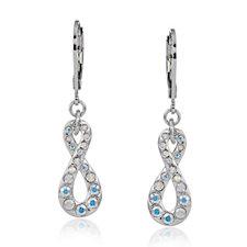 Aurora Swarovski Crystal Infinity Leverback Earrings