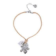 Bibi Bijoux Plaited Leather Charm 45cm Necklace