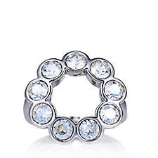 Aurora Swarovski Crystal Circle Ring
