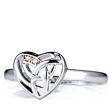Clogau 9ct Rose Gold & Sterling Silver Eternal Love Diamond Heart Ring