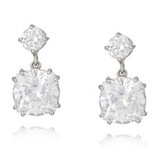 Michelle Mone for Diamonique 8ct tw Round Cut Drop Earrings Sterling Silver