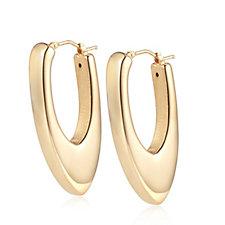 305881 - Bronzo Italia Chevron Hoop Earrings