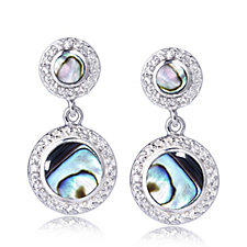 Diamonique 0.4ct tw Mother of Pearl Drop Earrings Sterling Silver