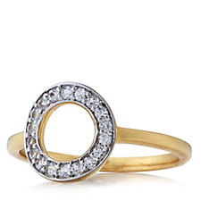 K by Kelly Hoppen Eternal Circle Capri Ring 18ct Gold Vermeil Sterling Silver