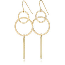 Pilgrim Interlinking Circles Drop Earrings