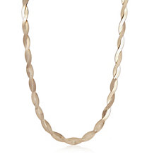 Bronzo Italia Reversible Braided 44cm Necklace