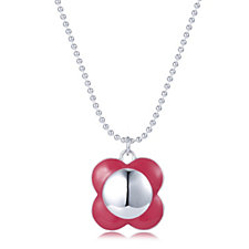 Orla Kiely Breast Cancer Care Poppy Pendant 45cm Necklace