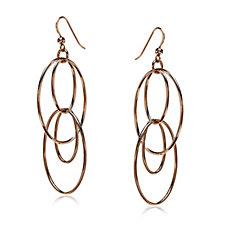 Bronzo Italia Oval Drop Earrings