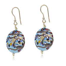 MuranoGlass Picasso Orb Earrings Sterling Silver