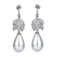 Elizabeth Taylor La Peregrina Simulated Pearl Drop Earrings