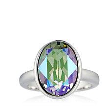 Aurora Swarovski Crystal Solitaire Ring
