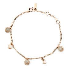 Pilgrim Semi Precious Stone Drop Charm Bracelet