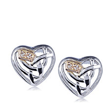 Clogau 9ct Rose Gold & Sterling Silver Eternal Love Earrings