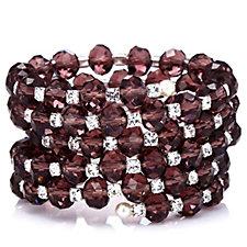 Frank Usher Crystal Bead Wrap Bracelet