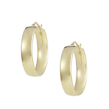 Bronzo Italia Round Hoop Earrings