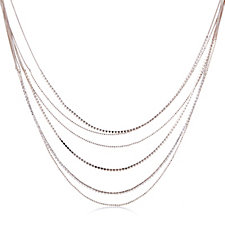 Loverocks Multi Layer Crystal 83cm Necklace