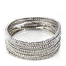 305483 - loveRocks Set of 10 Crystal Stretch Bracelets