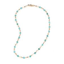 Bronzo Italia Turquoise Bead Twist 60cm Necklace
