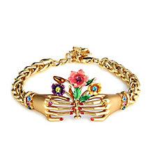 Butler & Wilson Hands Holding Flowers Chain Bracelet