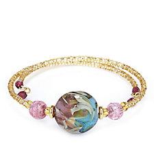 Murano Glass Alhambra Wrap Bracelet Sterling Silver