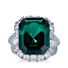 Elizabeth Taylor 15.7ct tw Simulated Emerald Ring